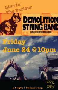 06-24 Demolition String Band at Fox and Crow