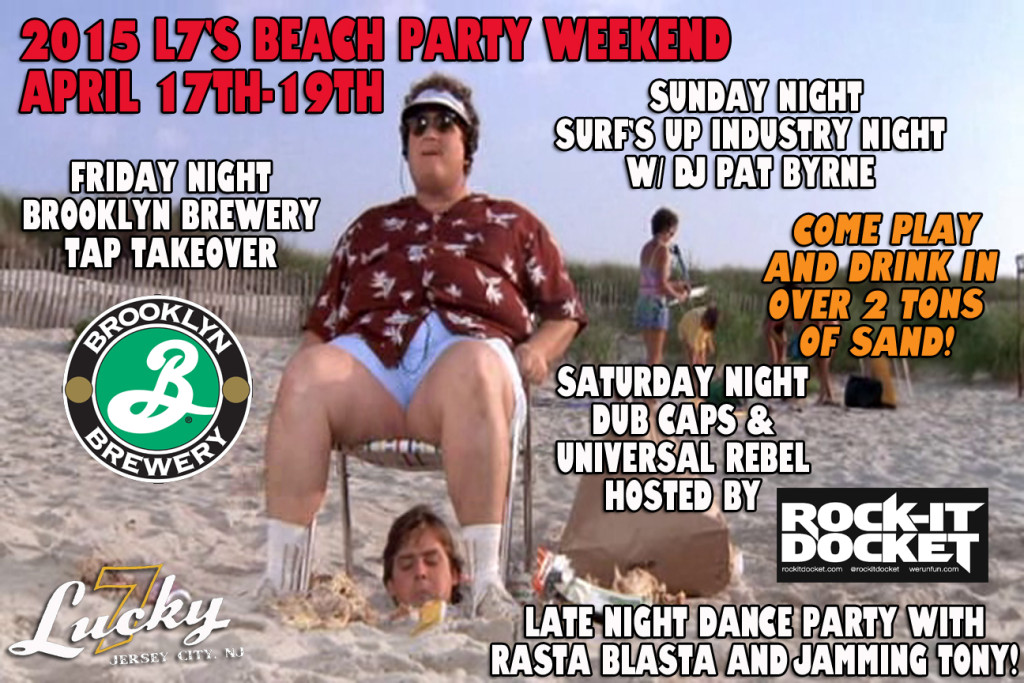 Lucky 7's Beach Party Weekend April 17-19 : Low Tide Ladies Night with Vidal Sassoon Thursday