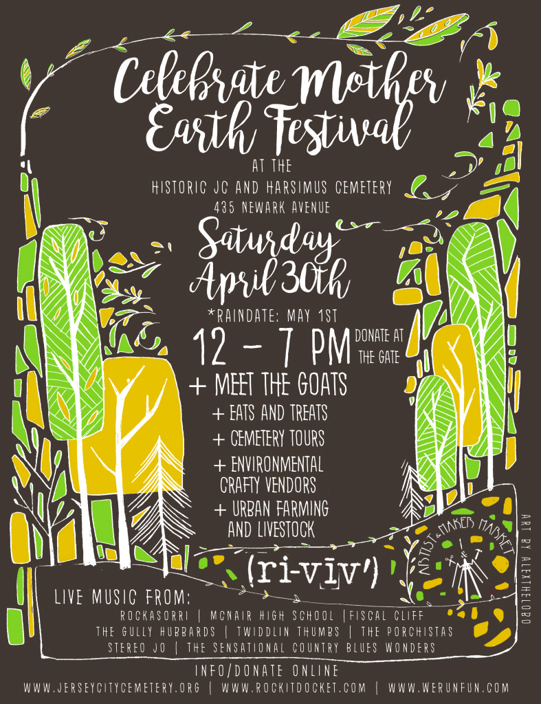 SAT 04-30 Celebrate Mother Earth Festival @ Historic JC & Harsimus Cemetery