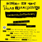 Mon 11-21 26th Anarchy in the Gravy : The 26th Annual Pagan Thanksgiving
