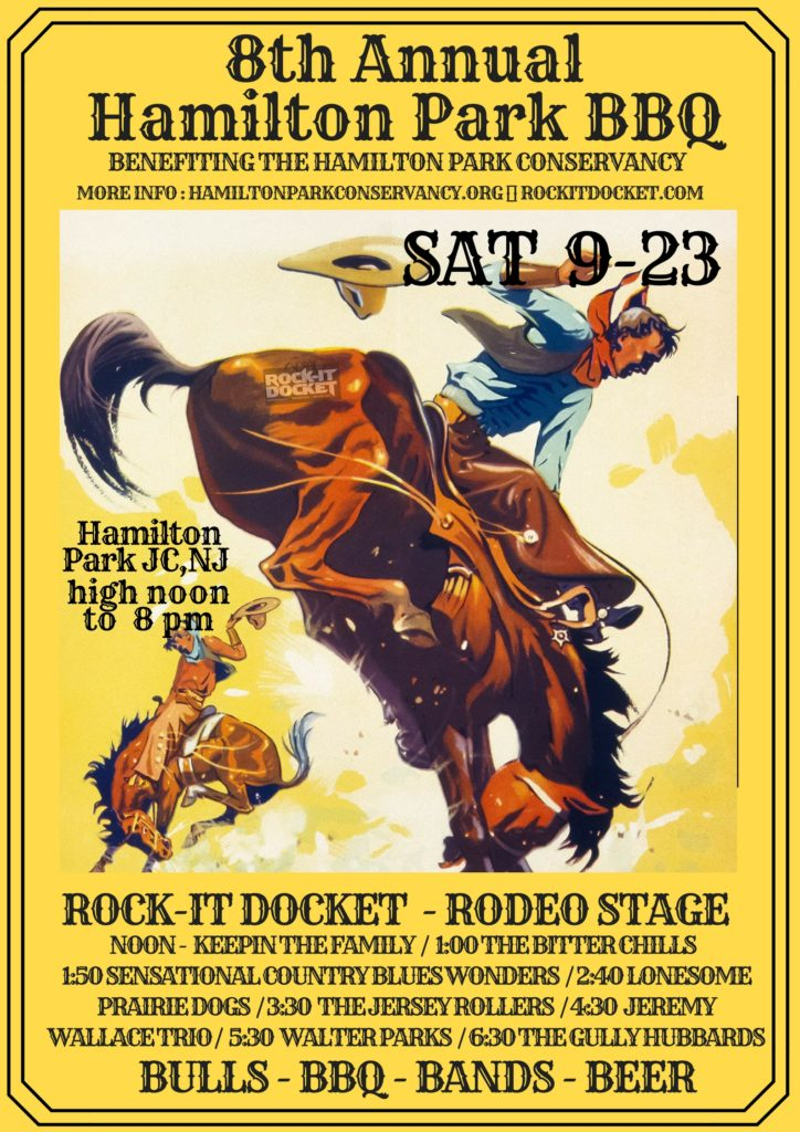 SAT 09-23 Rock-it Docket Rodeo Stage at Hamilton Park BBQ