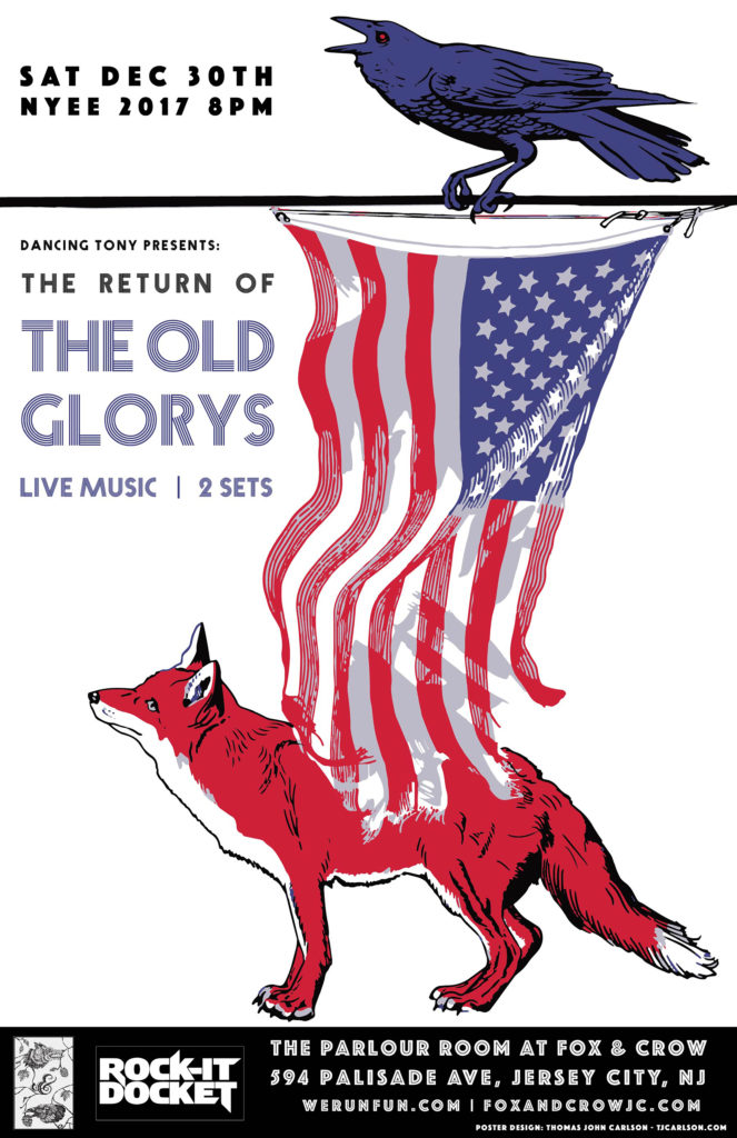 SAT 12/30 the return of The Old Glorys at Fox & Crow